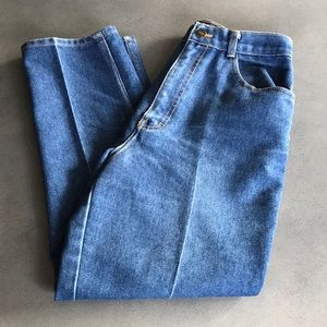 Vintage high waisted straight leg jeans